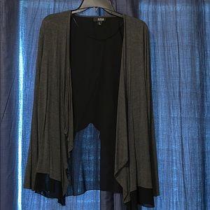 a.n.a. Gray/black Flyaway Cardigan